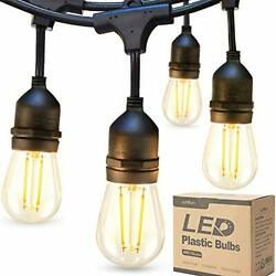 24ft Outdoor Commercial String Lights Heavy Duty Weatherproof Vintage Patio New