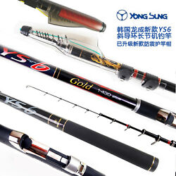Telescopic Rock ISO Fishing Rods YS 6 GOLD Telescope Carbon Poles Bolognese Rod $219.99