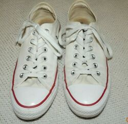 WOMEN#x27;S CONVERSE CHUCK TAYLOR ALL STAR WHITE LOW TOP SIZE 8.5 M7652 NICE $11.91