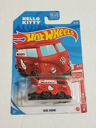 NEW Hot Wheels 2021 Red Edition HELLO KITTY KOOL KOMBI Target Exclusive H Case $24.98