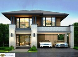 V 384 Two story House Plan Custom 5 Bedroom with 3 Bath and 2 Car Garage modern $69.50