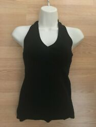 NEW with Tags ANN TAYLOR LOFT Black Halter Top Sleeveless Retail $39 PS