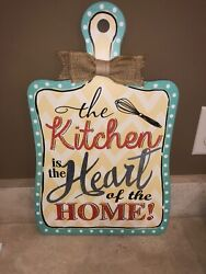 Ganz Decorative Kitchen Sign quot;Kitchen is the Heart of the Homequot; Cutting Board Si $19.99