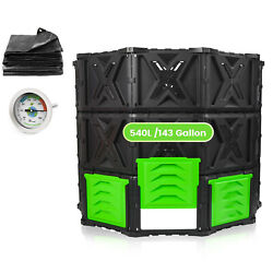 SQUEEZE master XXL Large Compost Bin Outdoor 540L 143 Gallon Easy Assembly $89.99