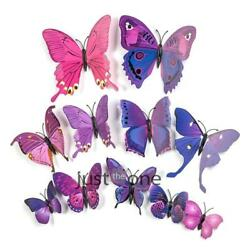 NEW 12 Pcs 3D Butterfly Wall Stickers PVC Children Room Decal Home Decoration # $5.89