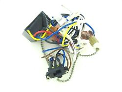 #51 Used Hampton Bay Ceiling Fan Wiring Harness with Switches Capacitor Parts $34.50