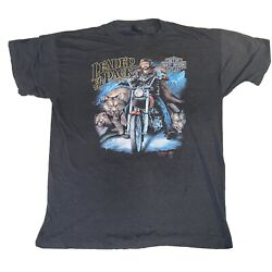 vintage 3d emblem harley davidson t shirt leader of the pack 1988 soft single st $199.99