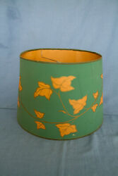 Mid Century Modern Shade for Electric Table Lamp Green with Floral Design $10.40