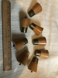 8 VINTAGE MID CENTURY MODERN RETRO TABLE COUCH LEGS CONE BLOND WOOD SCREW IN 2.5 $29.00
