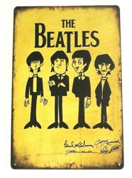 The Beatles Tin Metal Poster Sign Rustic Vintage Style Bar Restaurant Man Cave $9.72