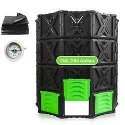 SQUEEZE master Large Compost Bin Outdoor 720L 190Gallon Easy Assembly No Screws $112.99
