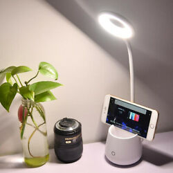 Dimmable LED Desk Lamp Table Beside Reading Light Touch Sensor Rechargeable US $13.39