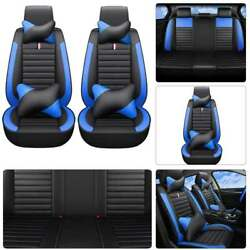 Universal 5 Seats Car Seat Cover Set PU Leather SUV FrontRear Sit Cushion Parts $100.48