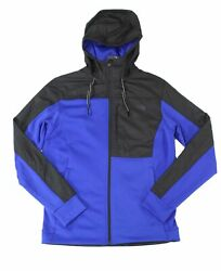 The North Face Mens Jacket Black Blue Size XL Essential Fleece Hooded $99 079 $58.98