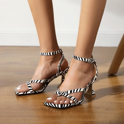 US 4 13 Women Clip Toe Party Shoes Lady High Heel Buckle Strap Slingback Sandals $49.99