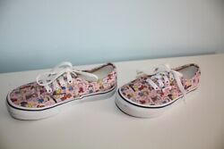 Vans Off The Wall Girls Size 13 Pink Peanuts Snoopy Dance Party Canvas Sneakers $16.95