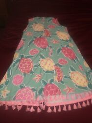 Simply Southern Trapeze Dress size Small with tassels. Turtles $13.00
