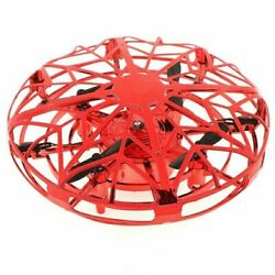 Deerc Mini Drone Induction Levitation Flying Ball Hand Operated Quad UFO Toy Red $10.99