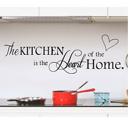 Wall Stickers for Kitchen Quote Home Wall Decals Kitchen Art Decorations Vinyl $18.99