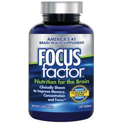 FOCUS factor Dietary Supplement Nutrition for the Brain 150 Tablets EXP 04 2023 $19.99