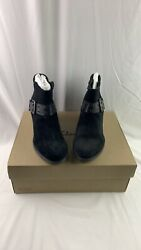 Clarks Women#x27;s Hollis Star Ankle Booties Black Suede Size 8.5 M $73.00