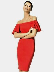 CARBON 38 off shoulder flamenco cocktail red dress size S was $150 now $65 $65.00