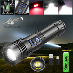 Super Bright XHP160 COB Red and White LED Flashlight Rechargeable USB Zoom Torch $22.64