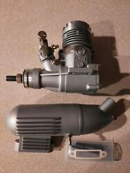 ROYAL 25 RC ENGINE TWO STROKE WITH MUFFLER AND BOX $50.00