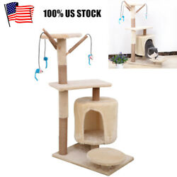 35quot; Cat Tree Tower Sisal Scratching Posts Condo House Kitty Activity Center $42.49