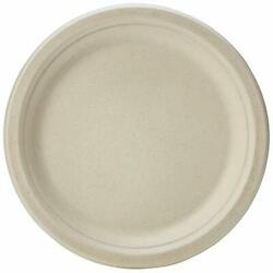 Basics Compostable Plates 9 Inches Kraft Pack of 250 $56.44