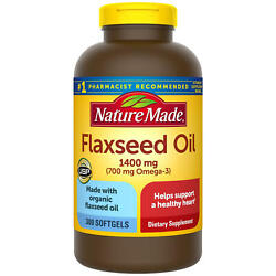 Nature Made Flaxseed Oil 1400 mg Softgels for Heart Health 300 ct. $19.69
