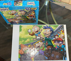 Rugrats Vintage Puzzle Jigsaw Picture 100 Piece Mattel 2000 Nickelodeon Baseball $15.00