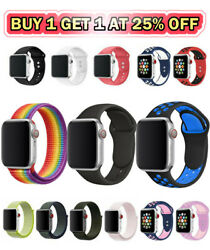 Silicone Bracelet Nylon Band Strap Sport For Apple Watch iWatch Series 234 5 6 7 $3.99