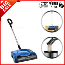 Cordless Rechargeable Floor and Carpet Sweeper Blue Easy To Use FREESHIPPING $44.88