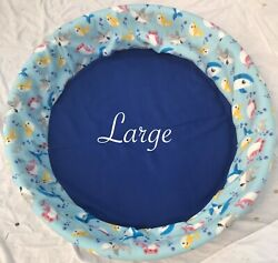 New Large Fleece Dog Whelping Pool Liner Round Dog Bed Cover Breeder Supplies $74.99