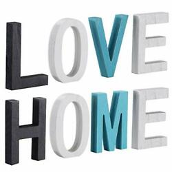 Wood Home Signs Rustic Wood Love Sign Freestanding Wooden Letters Cutout Word... $28.11