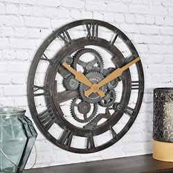 FirsTime amp; Co. Oxidized Gears Wall Clock 14quot; Metallic Teal $36.93