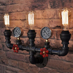 Industrial Retro Steampunk Pipe Sconce Lighting Wall Mount Lamp Vanity Light $49.49