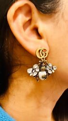 Gucci GG Drop Bug Earring In Antique $30.00