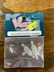 KSJ 419 T Type Clear Fuel Filters for Nitro RC Helicopters $5.99