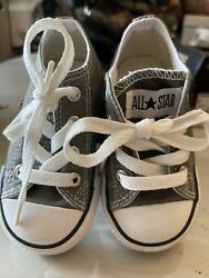 Converse All Star Toddler Low Top Chuck Taylor Shoes Charcoal Sz 5 unisex New $24.99