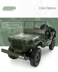 JJRC 1:10 2.4G 4WD RC Off Road Military Truck GREEN HH $49.99