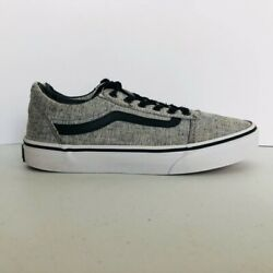 Vans Off The Wall Boys Sneakers Gray Black Heathered Low Top Lace Up 3.5 F $26.99