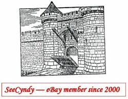 Castle Wall and Drawbridge Unmounted Rubber Stamp New FREE SHIPPING OFFER $5.99