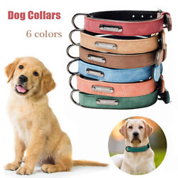 Dog Leather Adjustable Outdoor Neck Strap Dog Collar Necklace Pet Supplies $8.82