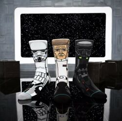 NEW Stance Star Wars Rogue One 3 Pair Gift Set Socks Storm Trooper Mens Large L $17.95