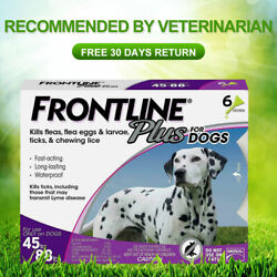 Frontline Plus for Dogs 45 88 lbs Flea and Tick Treatment Tick Control $35.00