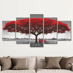 5PCS Tree Canvas Modern Wall Art Oil Painting Picture Print Unframed Home Decor $13.09