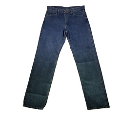 Wrangler 5 Star Men#x27;s Jeans Relaxed Fit 36x36 Medium Wash Denim Big and Tall $24.99