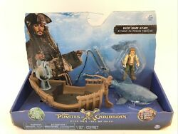 Pirates of the Caribbean Ghost Shark Attack Pirate Ship Action Cannon Boat Sword $29.95